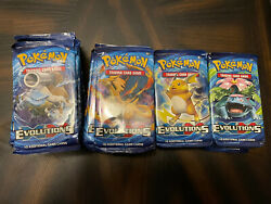 Lot Of 40 - Xy Evolutions Booster Pack - Factory Sealed Pokemon Cards