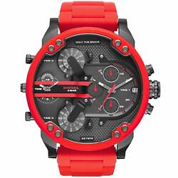 Casio Casiodiesel Men's Mr. Daddy 2.0 Multi Movement Red Silicon Wrap Stainless