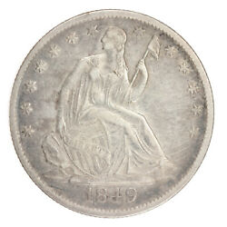 1849 O Seated Liberty Half Dollar Xf Details New Orleans Type Coin Ac372