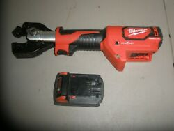 Milwaukee 2672-20 Force Logic Cable Cutter W/m18 Used Battery