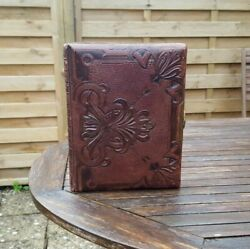 A Fabulous Quality Late Victorian Leather Bound Photo Album + Some Photographs