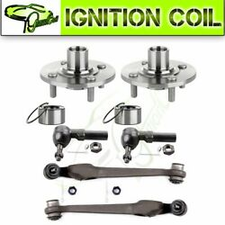 For 95-02 Saturn Sc1 6set Front Wheel Hub And Bearing Control Arm Tie Rod Parts