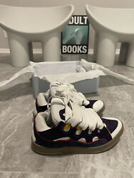 Brand New In Box Lanvin Curb Sneaker Men Eur 44 White Size 11 Rare Sold Out