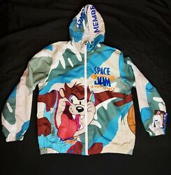 Members Only Space Jam 2 A New Legacy Wind Breaker Light Jacket Sz Xl Tune Squad