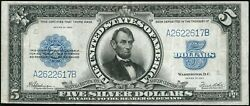 1923 5 Five Dollar Porthole Silver Certificate Note Fr282