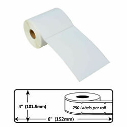 250 P/r 4x6 Direct Thermal Shipping Labels For Zebra Lp-2442 Lp-2844 2824 4x6
