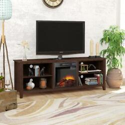 70 Tv Stand Fireplace Media Console For Tvs Up To 80, Farmhouse Electric Firep