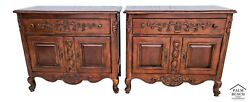 Oversized Hekman French Provincial Nightstands Chests - A Pair
