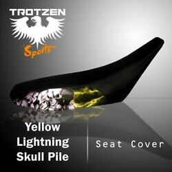 Yamaha Grizzly 660 02-03 Yellow Lightning Skull Pile Seat Cover Mgh3056sc3056