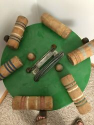 Early 1900s Vintage Croquet Set