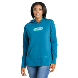 Life Is Good. Womenand039s Crusher-flex Tunic Hoodie Tee Lig Pill Persian Blue