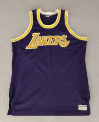 Los Angeles Lakers Blank Authentic Sand Knit Purple Nba Road Jersey Size 44