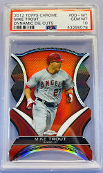 2012 Topps Chrome Dynamic Die Cut Mike Trout Psa 10 💎 Ehtf💎 Investment Piece📈