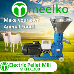 Pellet Mill 4hp 3kw Electric In Us Stock 4 Mm Die For Goat