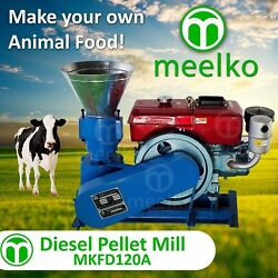 Pellet Mill 8 Hp Diesel Engine Miami Usa Shipping 6mm Cow