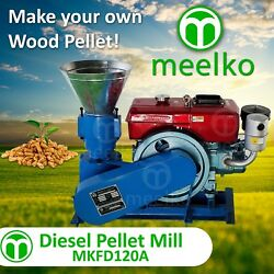 Pellet Mill 8 Hp Diesel Engine Miami Usa Shipping 6mm Wood