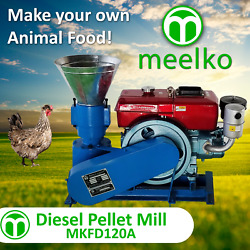 Pellet Mill 8 Hp Diesel Engine Miami Usa Shipping 4mm Chickens
