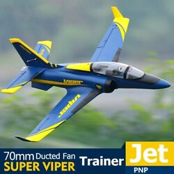 Fms Rc Airplane 70mm Super Viper Ducted Fan Edf Jet Trainer 6s 6ch, Pnp, Epo