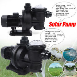 Dc Brushless Waterpump Solar Water Pump For Fountain Pool +removable Filter New