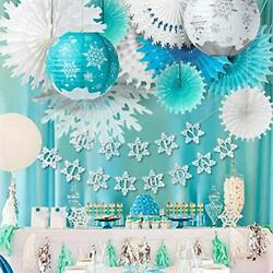 Kiddale Snowflakes Birthday Party Decorations With Happy Birthday Bannerchris...