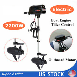 Electric Outboard Motor Boat Engine 2200w Electric Start Marine Brushless Motor