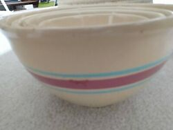 Vintage Watt Pottery Kitch-n-queen 6in. Nested Mixing Bowl - Full Set 9 8 7 6