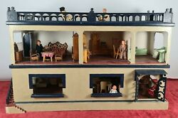 Complete Doll House. 2 Plants. 6 Rooms And Terrace. Twentieth Century.
