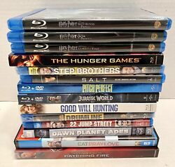Blu Ray 14 Movie Lot Harry Potter Jurassic World Hunger Games And More New