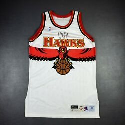 100 Authentic Atlanta Hawks Champion 97 98 Game Issued Blank Jersey 44+3