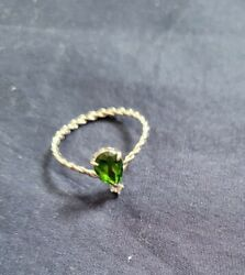 Ring From Fragrant Jewels A Grateful Heart Collection. Green Stone