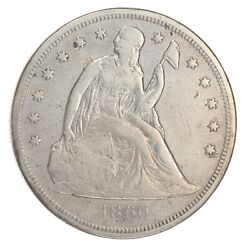 1860-o Liberty Seated Silver Dollar Very Fine Details Nice Filler