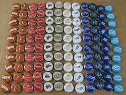 120 Red White Blue Some Obsolete Craft Beer/soda Bottle Caps Micro Bud Miller