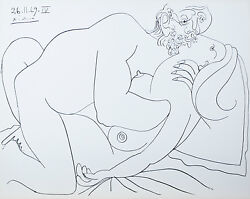 Le Vent D'arles 26.11.69.iv By Pablo Picasso Plate Signed Lithograph