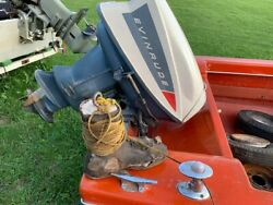 1965 Evinrude Outboard Boat Motor With 1960 Or So Pressure Release Powerhead