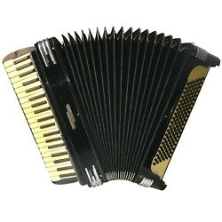 Vintage Ww2 Excelsior Accordion Model 4949 Full Size 120 Bass 4 Read Stops Euc