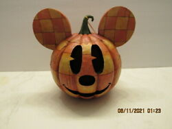 Jim Shore Disney Traditions 2008 Happy Halloween Mickey Mouse Pumpkin Lighted