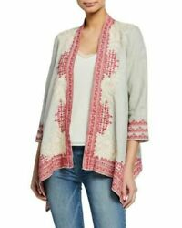 New 260 Johnny Was Camille Cardigan Kimono Xxl Floral Embroidered Peasant Boho