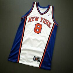 100 Authentic Latrell Sprewell 00 01 Knicks Game Issued Jersey 48+2 Mens