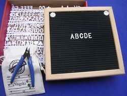 New Vagski Black Felt 10 X 10 Letter Board With White Letters Bag And Tool Menu