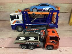 Vintage Toys-r-us Tow Trucks - Man - Lot Of 2 - All Functions Work On Both