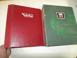 Oliver And White Farm Equipment Expandable Format Empty 3 Ring Binders 2pcs Lot