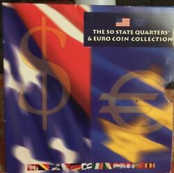 2002 50 State Quarters And Euro Coin Collection Set - Uncirculated Mint Product