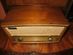 Vintage Zenith Am Fm Long Distance Tube Radio Model G730 For Parts/repairs