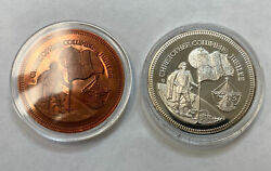 1992 500 Years Of Discovery Silver Token And Copper Token