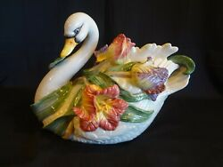 Fitz And Floyd - Tulip Swan - Soup Tureen With Lid And Ladle