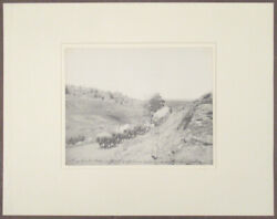 L. A. Huffman Montana Photograph 383 Jerk-line Twelve On The Old Freight Road