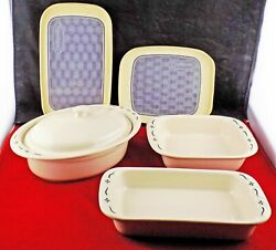 Longaberger Bake Ware - Choice Mix And Match - Woven Traditions Heritage Green
