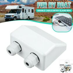 1pc Top Solar Panel Double Cable Entry Gland Roof Motorhome Caravan Camper Boats
