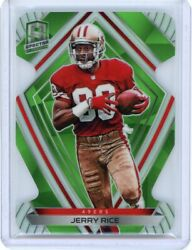 2020 Panini Spectra Football Green Die-cut 135 Jerry Rice 16/30