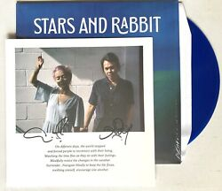 Stars And Rabbit - On Different Days Ltd Blue Moon Vinyl Autographed Print Signed